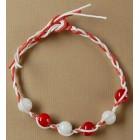 Мартеница гривна - плетени въжета със сферични орнаменти