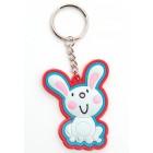 Сувенирен цветен ключодържател - зайче - 5см