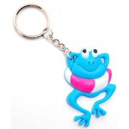 Сувенирен цветен ключодържател - жабка - 5см