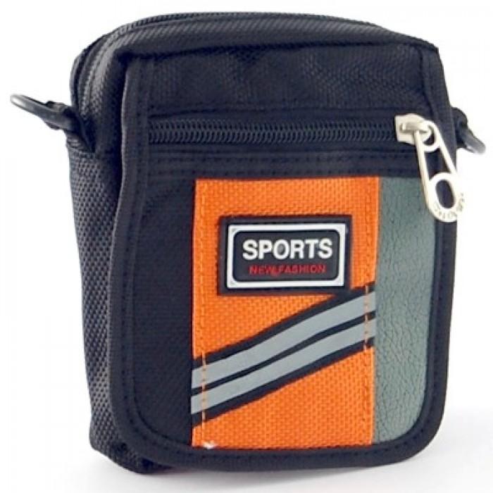 Мъжка чанта текстил за рамо, с регулируема дължина на презрамката, джобове и цип