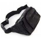 Мъжка кожена чанта за кръст, с регулируем колан, джобове и цип