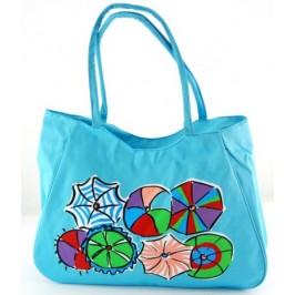Лятна чанта текстил с декоративна бродерия