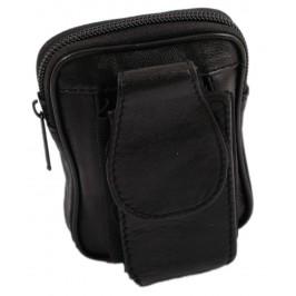 Мини портмоне за колан с отделение за GSM, изработени от естествена кожа