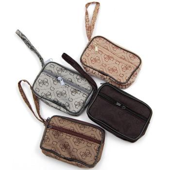 Чантичка текстил с щампа, дръжка за китка