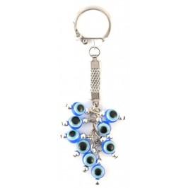 Сувенирен ключодържател с девет сини стъклени очи (назар)