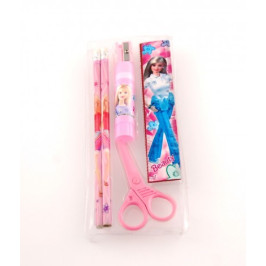 Комплект за чертане от два молива, линия, острилка, ножичка за хартия и лепило