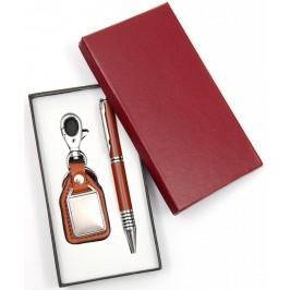 Луксозен подаръчен комплект от химикал и ключодържател