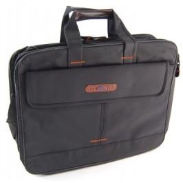 Мъжка чанта текстил с къси дръжки и дръжка за рамо, джобове и цип