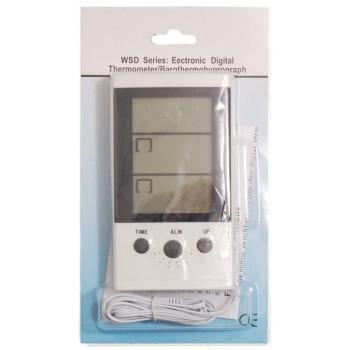 Електронен термометър с датчик за външна и вътрешна температура