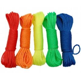 Въже за простиране на дрехи, изработено от усукани синтетични влакна