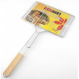 Домакински уред - метална скара с дървена дръжка