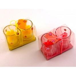 Комплект две ароматни свещи в стъклени свещници - 6х5см