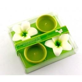 Комплект от две ароматни свещи - форма цвете 8х4см