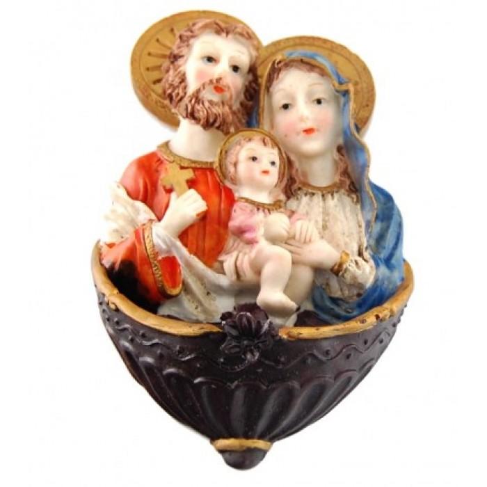 Декоративна фигурка гипс - Дева Мария, Йосиф и бебето Исус
