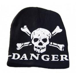 Младежка плетена зимна шапка с щампа