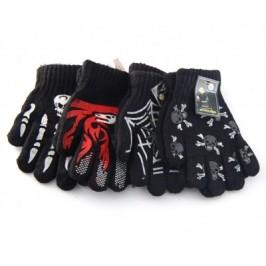 Плетени ръкавички с декоративна PVC апликация