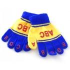 Плетени цветни ръкавички с пет пръста