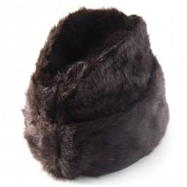 Зимна шапка от еко кожа с подплата