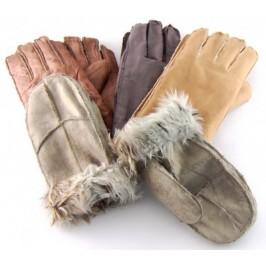 Меки и удобни зимни мъжки ръкавици от изкуствен велур