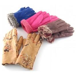 Меки и удобни дамски ръкавици от изкуствен велур