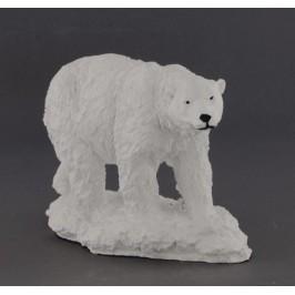 Декоративна фигура - гипс, полярна мечка с поставка - 15х23см