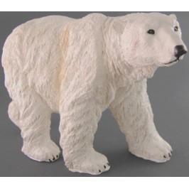 Декоративна фигура - гипс, полярна мечка - 23х46см