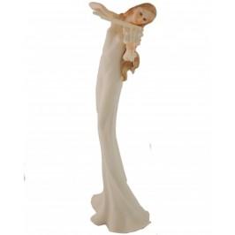 Декоративна керамична фигурка, цигуларка - 36см