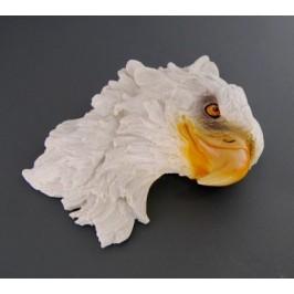 Декоративна фигура - гипс, глава на орел за окачване на стена - 26х22см