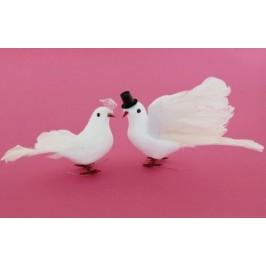 Декоративни фигурки - гълъби младоженци