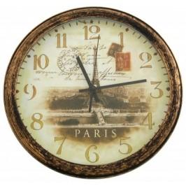 Стенен часовник - принт и рамка в ретро стил - диаметър 32см