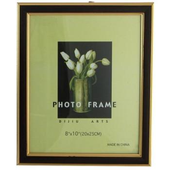 Фоторамка с декоративни златни кантове - PVC, фронт стъкло
