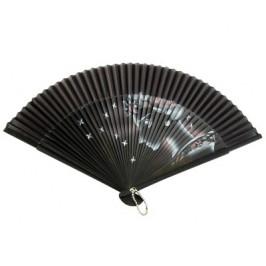 Луксозно сувенирно ветрило от фин рисуван бамбук - 21см