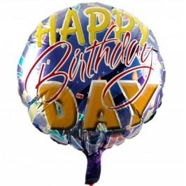 Парти балон - метализирано покритие с надписи - 45см