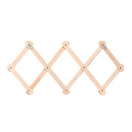 Дървена закачалка за дрехи - хармоника