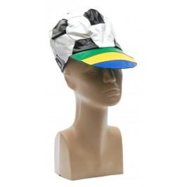 Карнавална шапка във формата на футболна топка с козирка