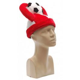 Карнавална шапка с рога и футболна топка