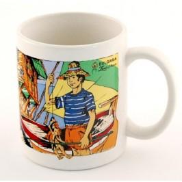 Сувенирна чаша от порцелан с цветен принт тема