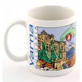 Сувенирна чаша порцелан с цветен принт тема