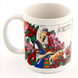 Сувенирна чаша порцелан с цветен принт - тема