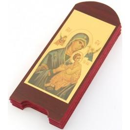Красива шесторна икона върху дървена плочка