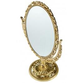 Красиво овално ретро огледало на стойка PVC - 18х13см