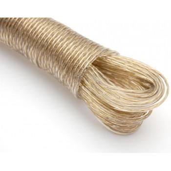 Въже за простиране на дрехи, изработено от стоманена нишка със силиконово прозрачно покритие