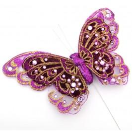 Декоративна фигурка пеперуда на метален постамент