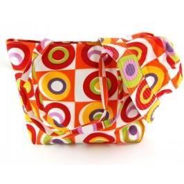 Комплект лятна шапка и чанта за плаж от текстил с цветна щампа с размери 40х30см