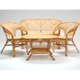 Комплект мебели - натурален ратан в нежно бежово