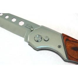 Сгъваем джобен нож с декоративна дървена дръжка и автоматично отваряне