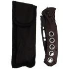 Сгъваем джобен нож - черен метал с автоматично отваряне
