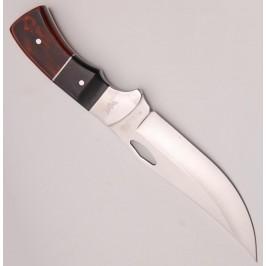 Ловен нож с дървена дръжка и калъф