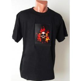 Черна тениска, светеща в такт с музиката
