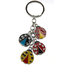 Сувенирен метален ключодържател - четири калинки
